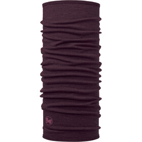 Buff Midweight Merino Wool Neck Tube solid deep purple
